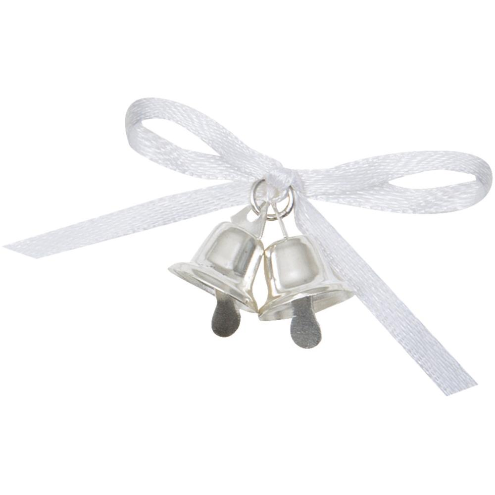 12ct Silver Wedding Bells Or Mini Church Bells