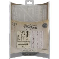 Tim Holtz Alterations -Pattern and Stitches Set Embossing Folders