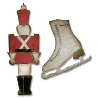 Tim Holtz Alterations - Mini Toy Soldier & Ice Skate Movers and Shapers Dies