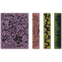Tim Holtz Alterations - Springtime Backgrounds & Borders Set Embossing Folders  -