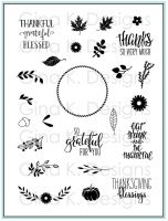 Gina K Designs - Autumn Wreath Builder Stamp Set