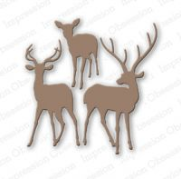 Impression Obsession - Deer Trio Die Set  -