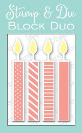 Impression Obsession - Large Candle Block Stamp & Die