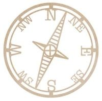 KaiserCraft Wooden Flourishes - Compass