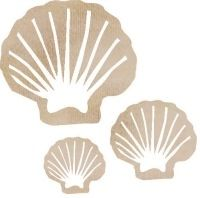KaiserCraft Wooden Flourishes - Clam Shell