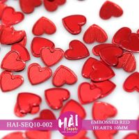 HAI - 10mm Red Hearts  -