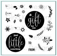Gina K Designs - Mini Wreath Builder Stamp Set  -