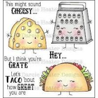 "Darcie - Cheesy Stamp Set and ""Tin Pins""  -"