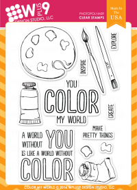 Wplus9 - Color My World Stamp Set