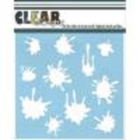 Clear Scraps - Paint Splat Stencil  -