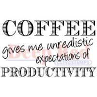 Deep Red - Coffee Productivity Stamp