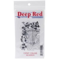 Deep Red - Corset Collage Stamp  -