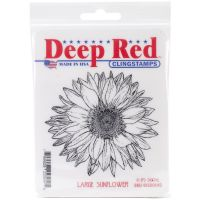 Deep Red - Large Sunflower Stamp  -