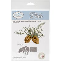 Elizabeth Craft Designs - Garden Notes White Pine Pinecone & Bough