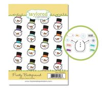 Taylored Expressions - Frosty Background Cling & Clear Combo Stamp Set  -