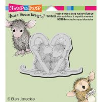 Stampendous - House Mouse Candy Cane Kiss Stamp