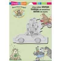 Stampendous - House Mouse Holiday Travel Stamp
