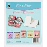 Hot Off The Press - 5 Side Step Cards & Envelopes  -