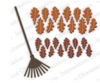 Impression Obsession - Oak Leaves and Rake Dies