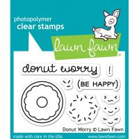 Lawn Fawn - Donut Worry Stamp Set WITH DIE