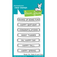 Lawn Fawn - Ready, Set, Shake Clear Stamp Set
