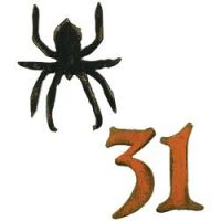 Tim Holtz Alterations - Mini Spider & 31  -