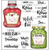 "Darcie - Ketchup Soon Stamp Set and ""Tin Pins""  -"
