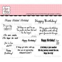 Sweet n Sassy - Birthday Greetings Stamp Set