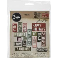 Tim Holtz Alterations - Holiday Words 2 - Block  -