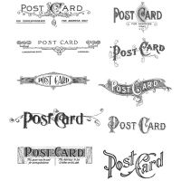 Tim Holtz Stampers Anonymous - Postcards