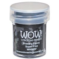 WOW! - Embossing Powders (WOW: Primary Ebony - Super Fine)