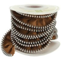 Melissa Frances Zipper Ribbon  ~ (Colors: Brown)