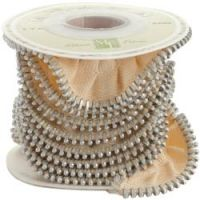 Melissa Frances Zipper Ribbon  ~ (Colors: Cream)
