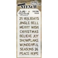 Tim Holtz Stampers Anonymous  Stencil  - (Stencil: Christmas)