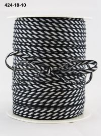 May Arts - 1/8 Inch Solid / Diagonal Stripes Ribbon (Colors: Black)