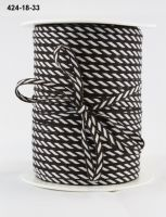 May Arts - 1/8 Inch Solid / Diagonal Stripes Ribbon (Colors: Brown)