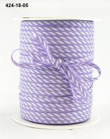 May Arts - 1/8 Inch Solid / Diagonal Stripes Ribbon (Colors: Lavender)