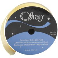 Offray Simply Sheer Ribbon (Colors: Yellow)